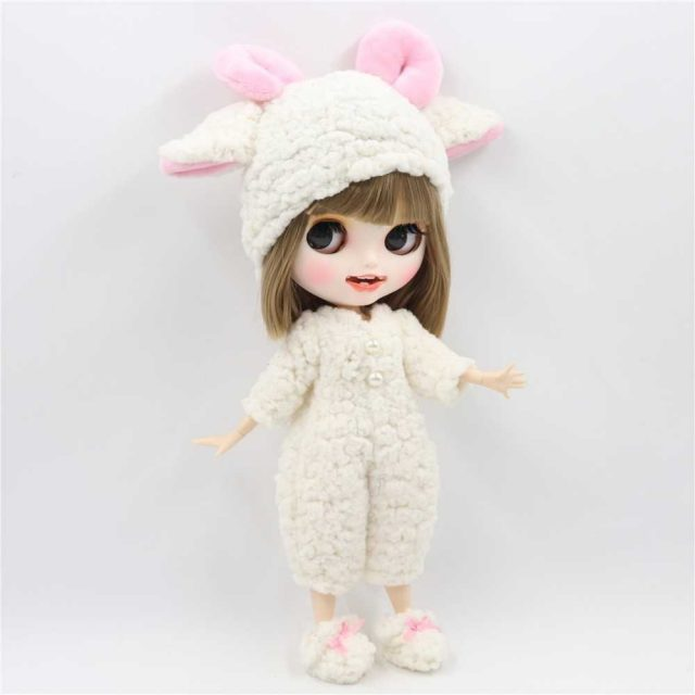 Opal – Premium Custom Blythe Doll with Clothes Smiling Face