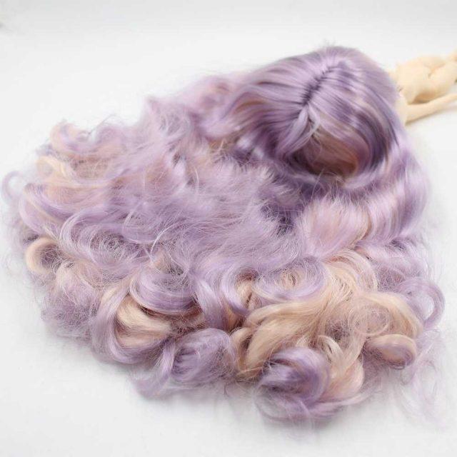 TBL Neo Blythe Doll იისფერი ვარდისფერი Joint Body Purple თმის Blythe