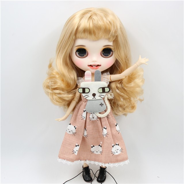 Fay – Premium Custom Blythe Doll with Clothes Smiling Face