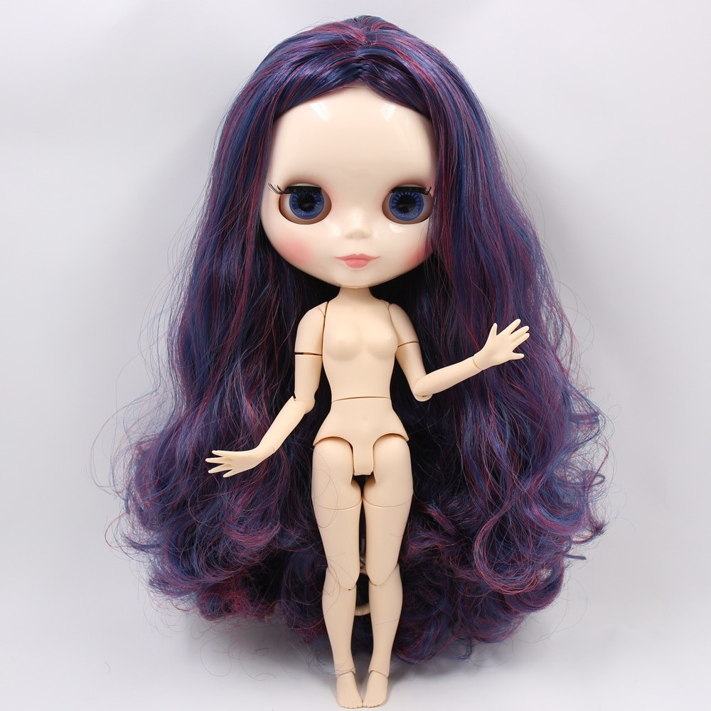Abigail – Premium Custom Blythe Doll with Full Outfit Glossy Cute Face Colorful Hair Blythe