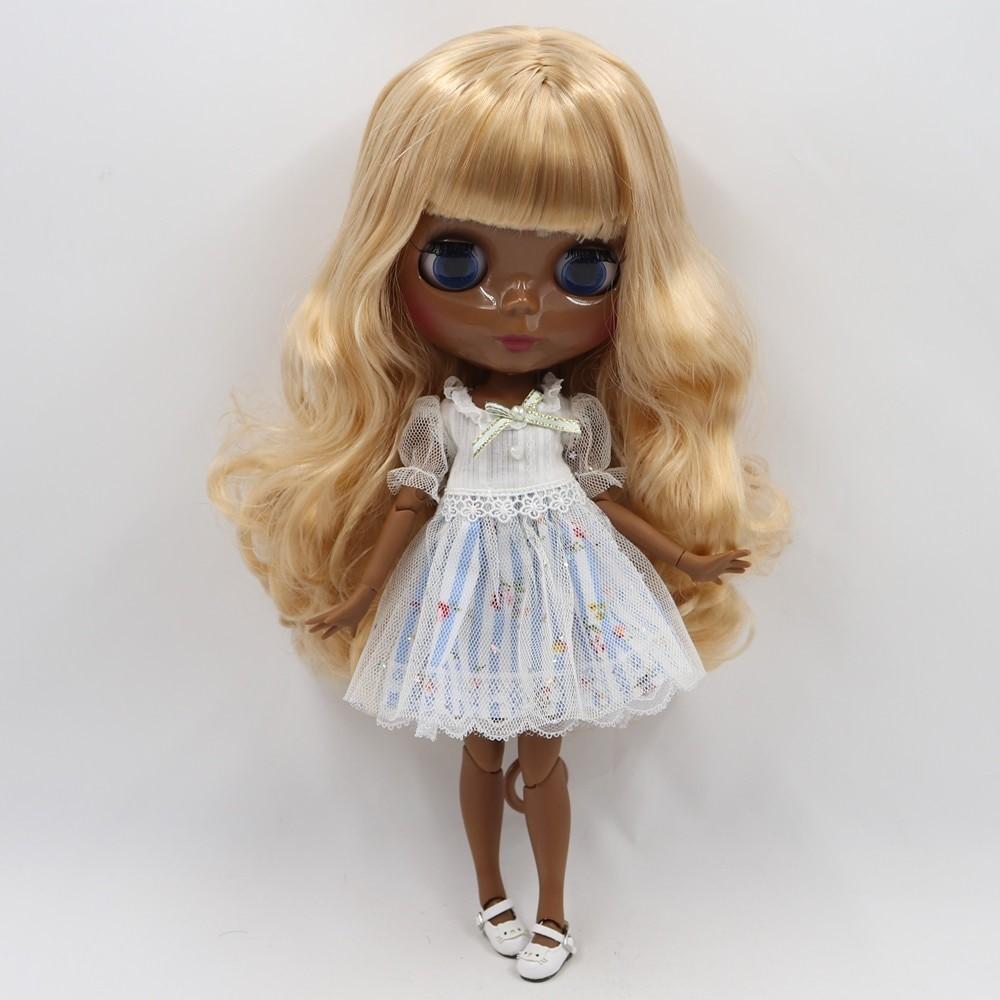 Stephanie – Premium Custom Blythe Doll with Full Outfit Glossy Cute Face Yellow Hair Blythe