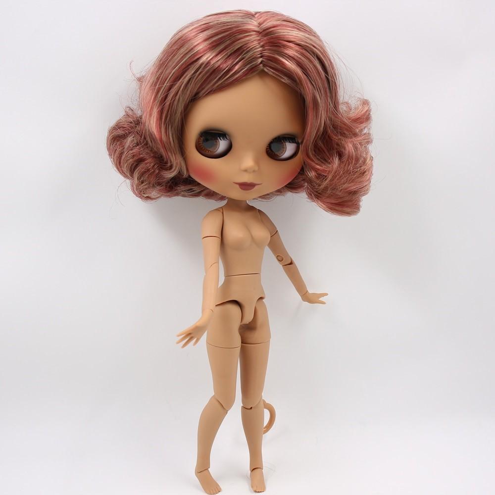 Lylah – Premium Custom Blythe Doll with Clothes Cute Face Brown Hair Blythe