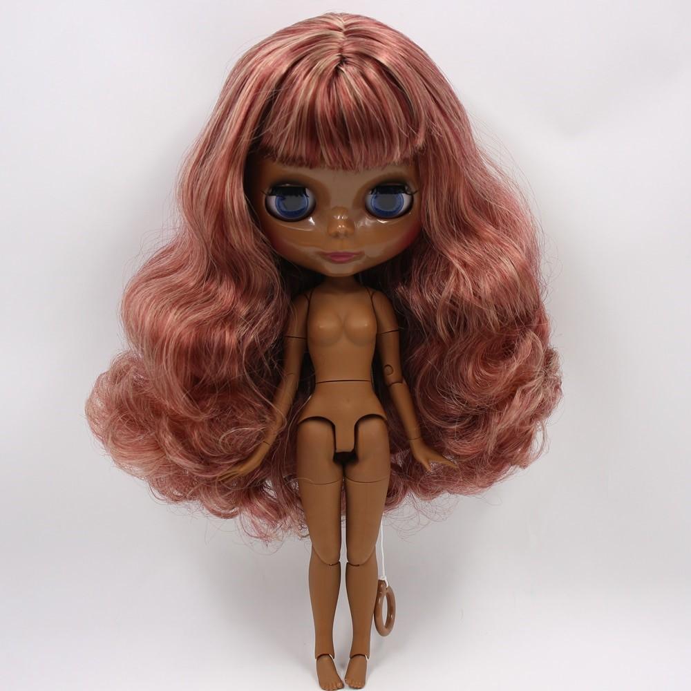 Dallas – Premium Custom Blythe Doll with Clothes Cute Face Brown Hair Blythe