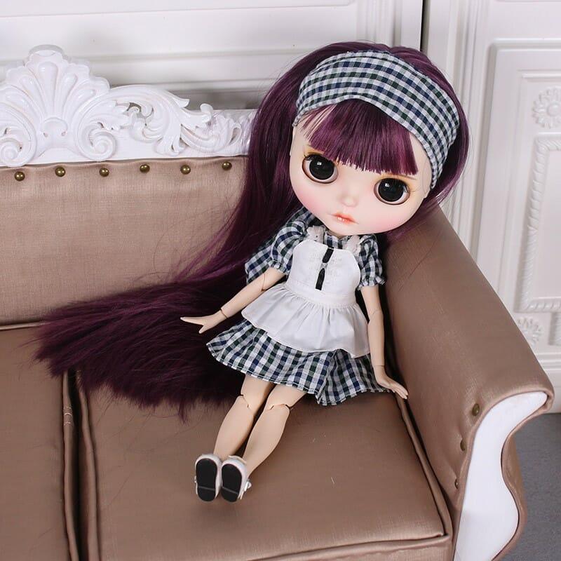Emberly – Premium Custom Blythe Doll with Full Outfit Cute Face Cute Face Premium Blythe Dolls 🆕
