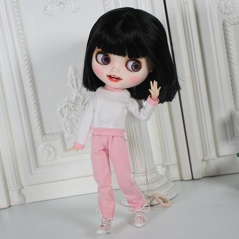 Leslie - Premium Custom Blythe Doll with Clothes Smiling Face Premium Blythe Dolls 🆕 Smiling Face