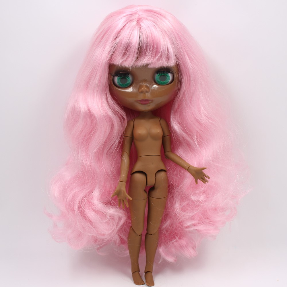 Gabrielle – Premium Custom Blythe Doll with Full Outfit Glossy Cute Face Pink Hair Blythe