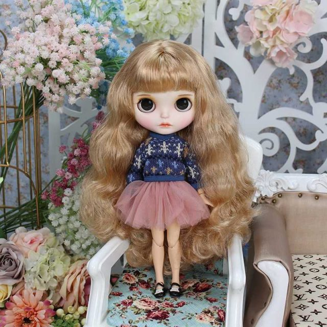 Kylee – Premium Custom Blythe Doll with Full Outfit Cute Face
