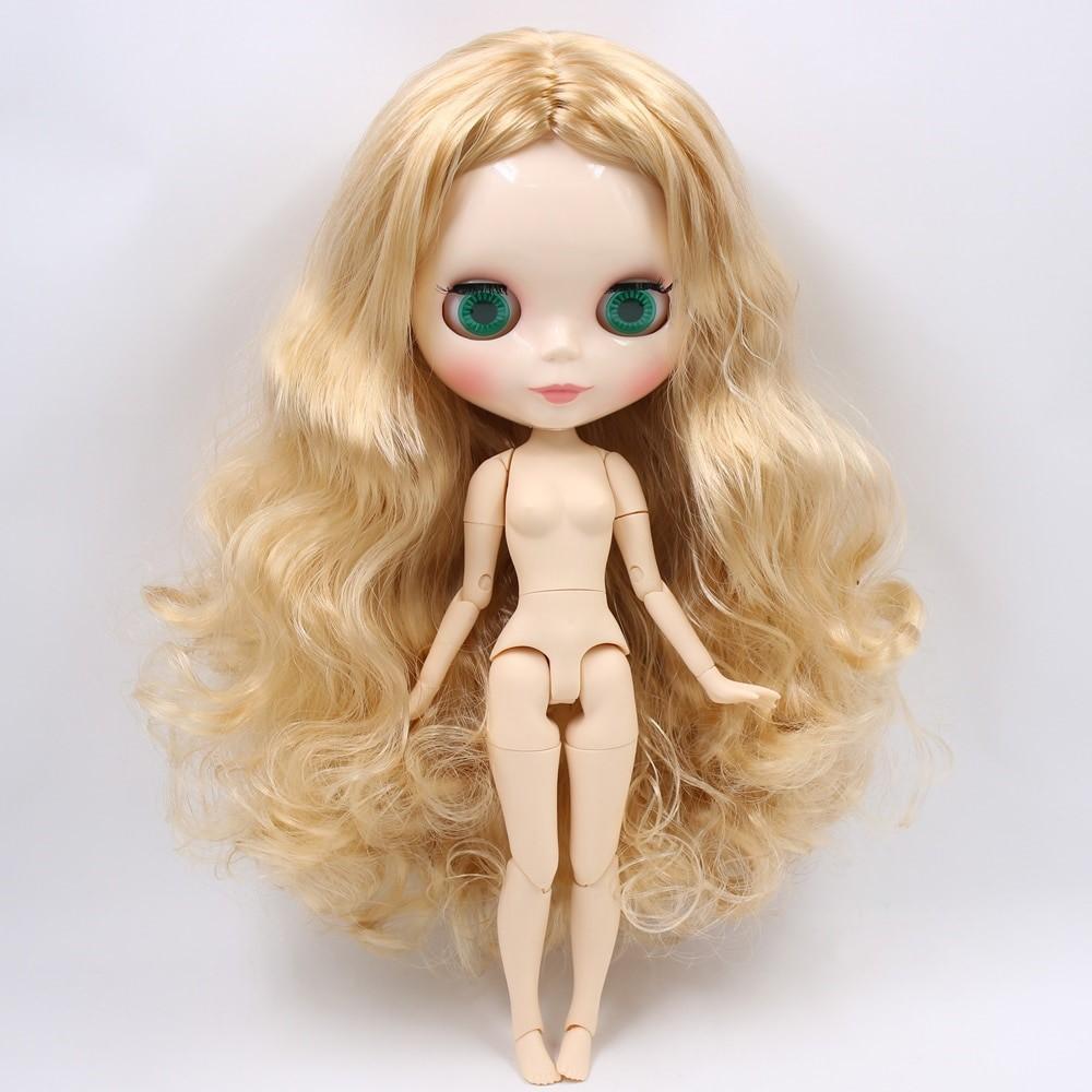 Sofia – Premium Custom Blythe Doll with Full Outfit Glossy Cute Face Yellow Hair Blythe