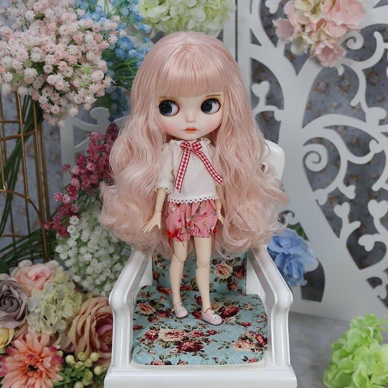 Leslie – Premium Custom Blythe Doll with Full Outfit Cute Face Cute Face Premium Blythe Dolls 🆕