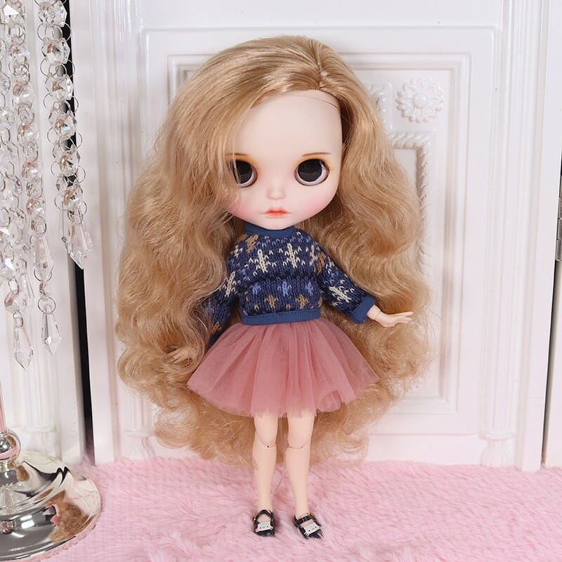Alessia – Premium Custom Blythe Doll with Full Outfit Cute Face Cute Face Premium Blythe Dolls 🆕