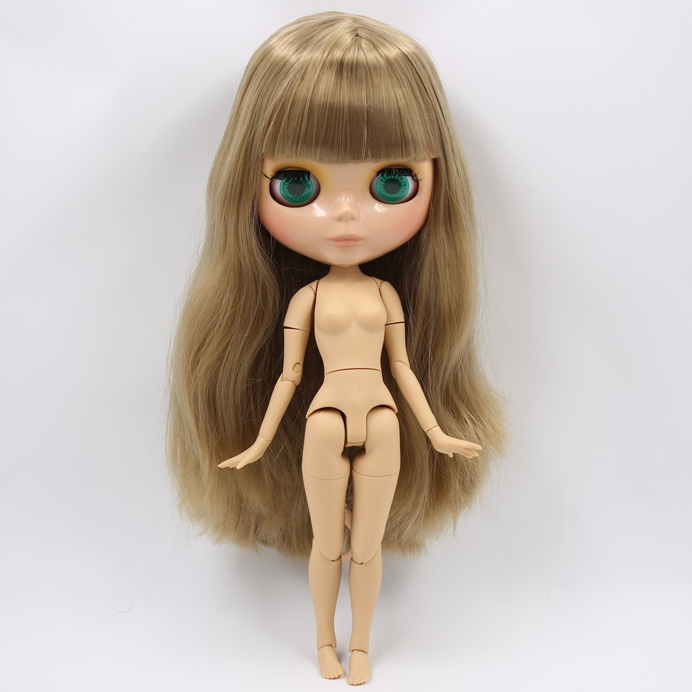 Victoria – Premium Custom Blythe Doll with Full Outfit Glossy Cute Face Brown Hair Blythe