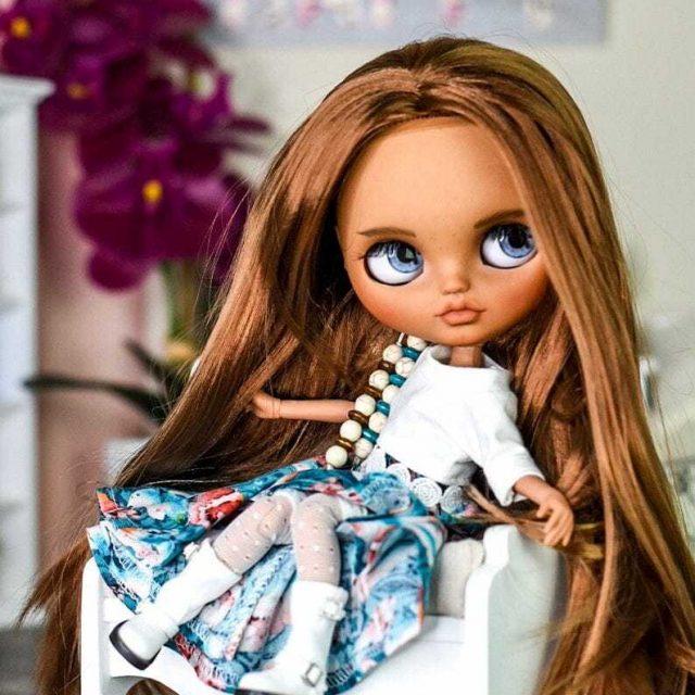 Eva – Custom Blythe Doll One-Of-A-Kind OOAK