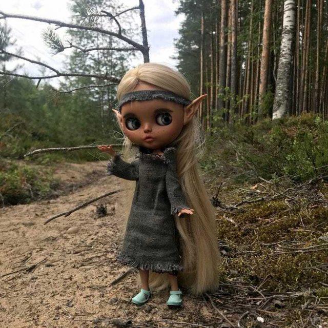 Лиляна - Бажы Блайт Doll-бирден-A-Kind OOAK