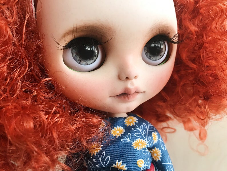 Emilia - Custom Blythe Doll One-Of-A-Kind OOAK Sold-out Custom Blythes