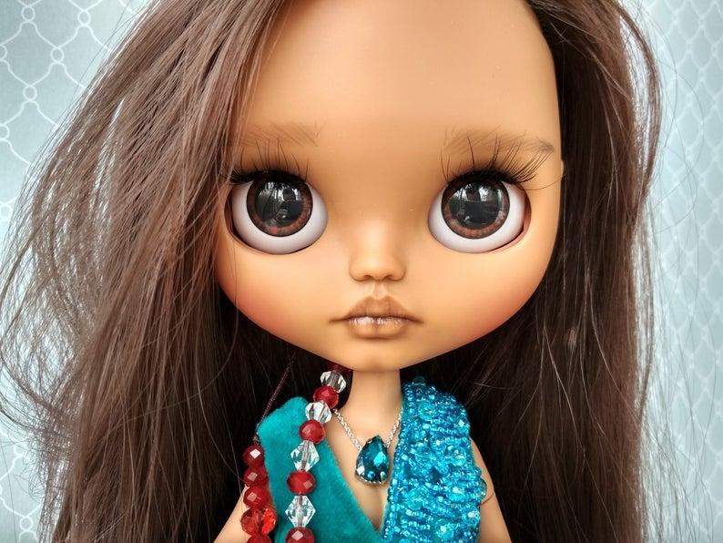 Annie - Custom Blythe Doll One-Of-A-Kind OOAK Custom Blythe Doll ⭐