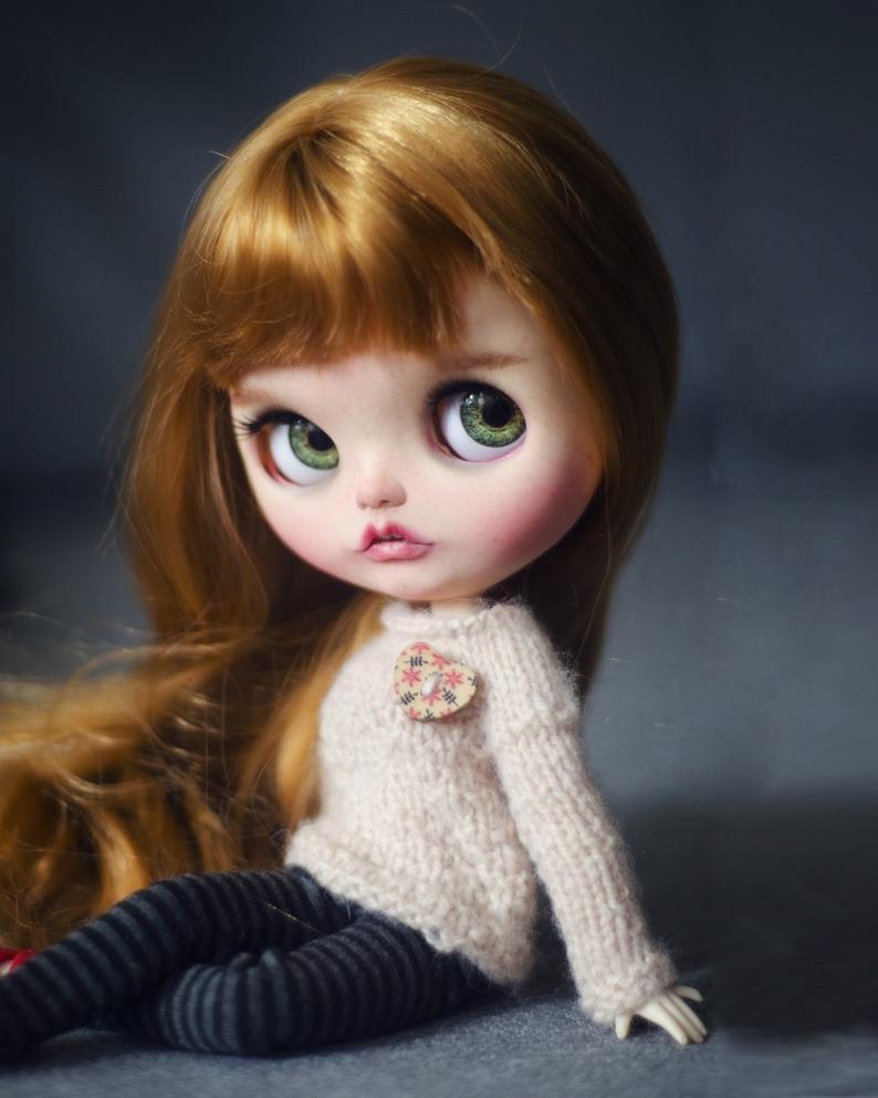 Evangeline - Custom Blythe Doll One-Of-A-Kind OOAK Custom Blythe Doll ⭐
