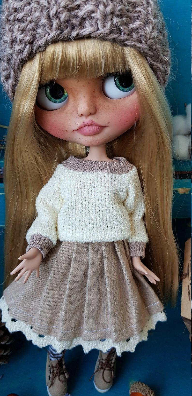 Christine - Custom Blythe Doll One-Of-A-Kind OOAK Custom Blythe Doll ⭐