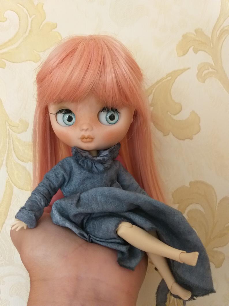 Amina - Custom Blythe Doll One-Of-A-Kind OOAK Custom Blythe Doll ⭐