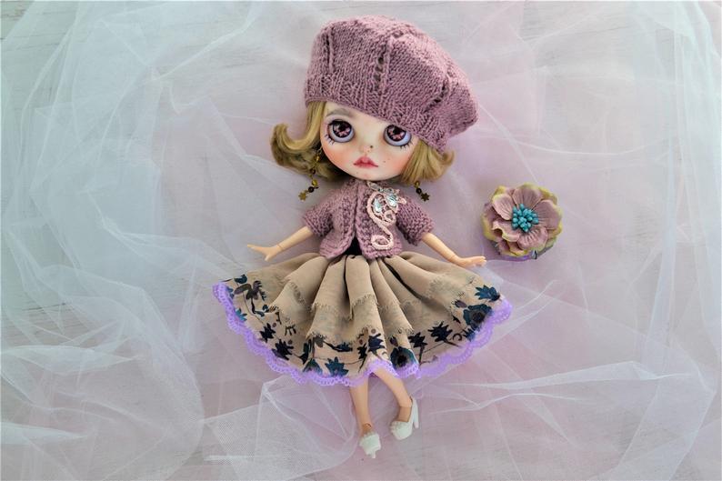 Varvara - Custom Blythe Doll One-Of-A-Kind OOAK Custom Blythe Doll ⭐
