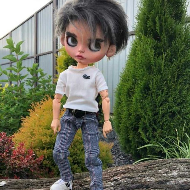 """12/"""" Boy Male Body Blythe Doll 20 Joints Suitable Modification Without Clothes"""