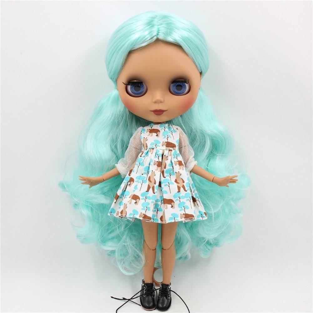 Helena – Combo Custom Blythe Doll with Full Outfit Cute Face Blue Hair Blythe Blythe Doll Combos Cute Face