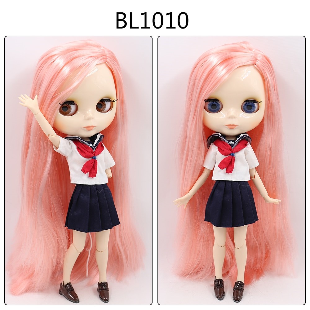 Mira – Custom Blythe Doll with Full Outfit Jointed Body Blythe Doll Combos Pink Hair Blythe