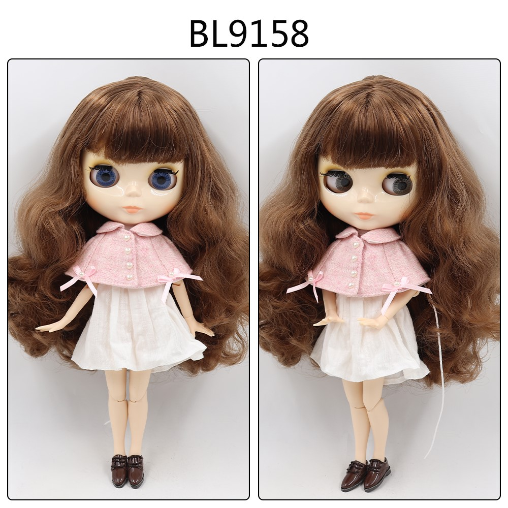 Francesca – Custom Blythe Doll with Full Outfit Jointed Body Blythe Doll Combos Brown Hair Blythe