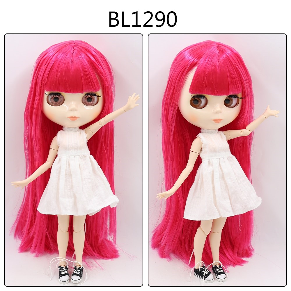 Chelsea – Custom Blythe Doll with Full Outfit Jointed Body Blythe Doll Combos Pink Hair Blythe