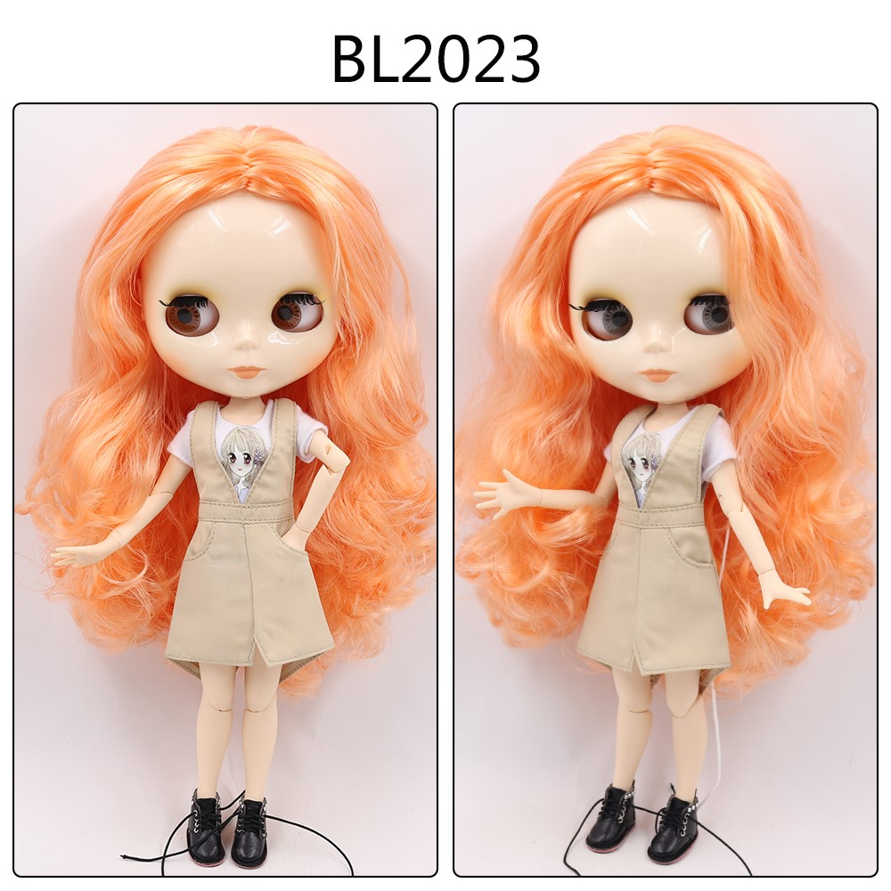 Kayleigh – Custom Blythe Doll with Full Outfit Jointed Body Blythe Doll Combos Orange Hair Blythe