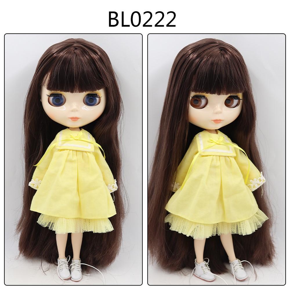 Jolene – Custom Blythe Doll with Full Outfit Jointed Body Blythe Doll Combos Brown Hair Blythe