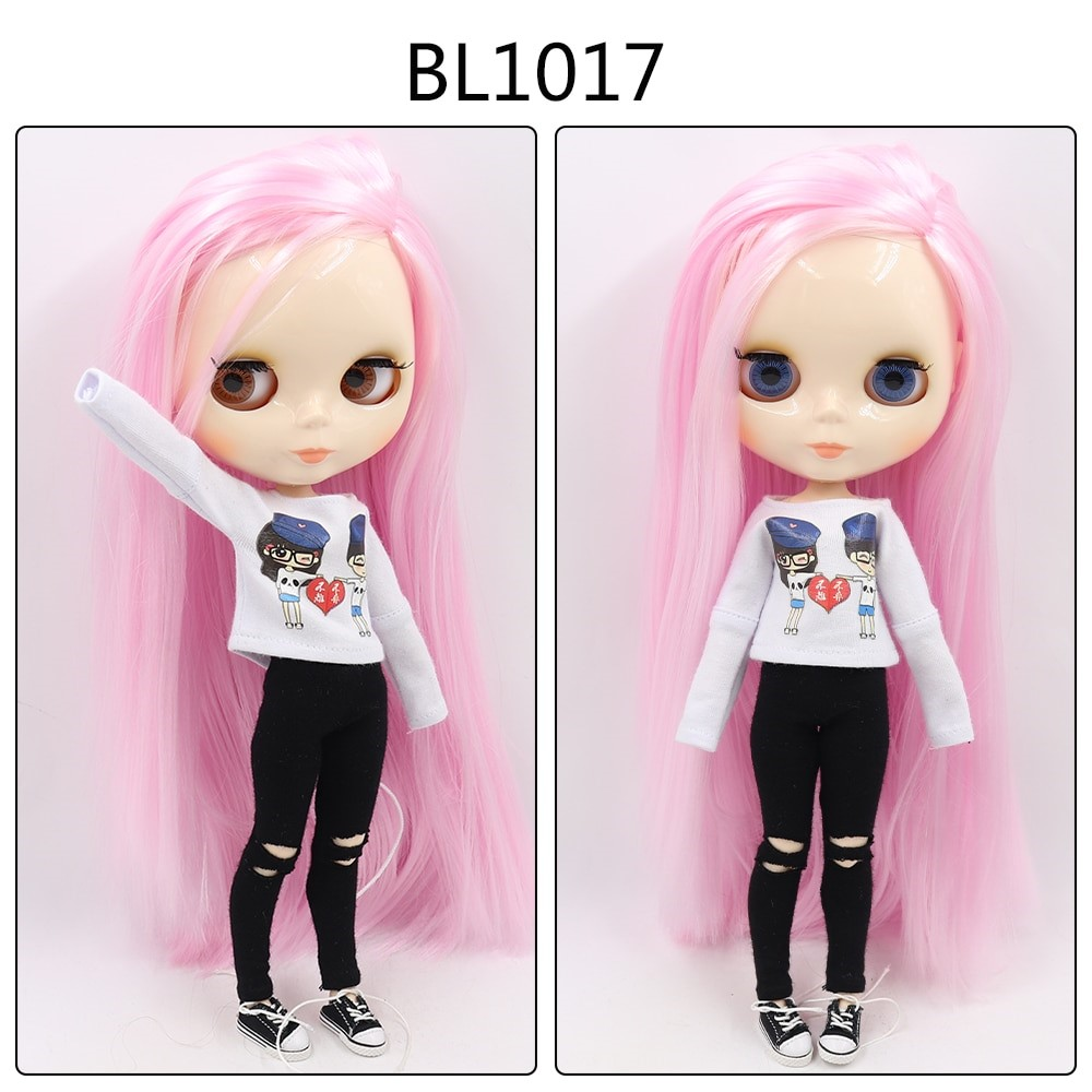 Elisa – Custom Blythe Doll with Full Outfit Jointed Body Blythe Doll Combos Pink Hair Blythe