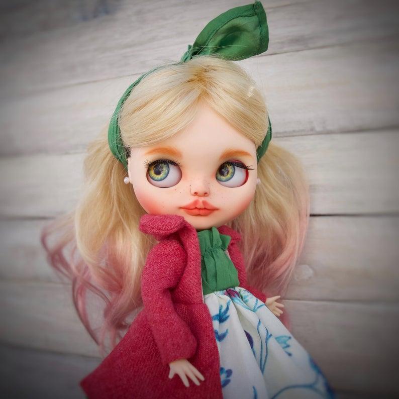 Harper - Custom Blythe Doll One-Of-A-Kind OOAK Custom Blythe Doll ⭐