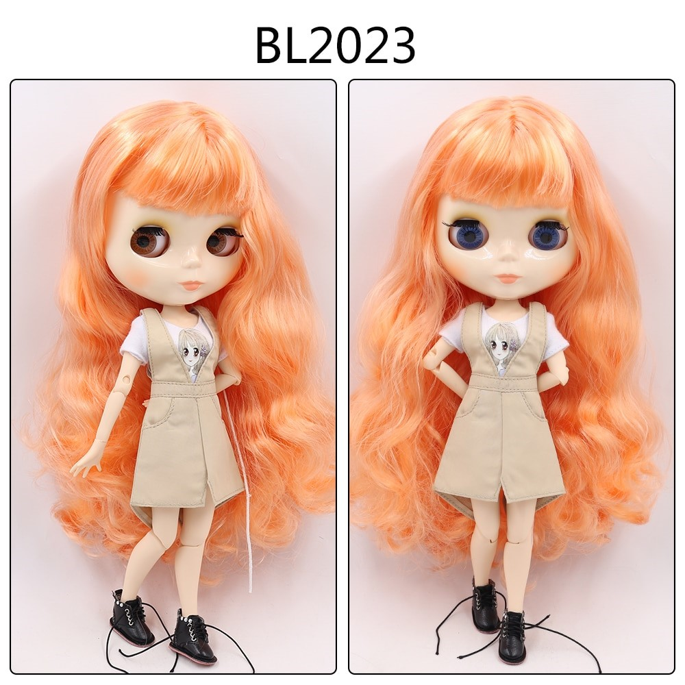 Sierra – Custom Blythe Doll with Full Outfit Jointed Body Blythe Doll Combos Orange Hair Blythe