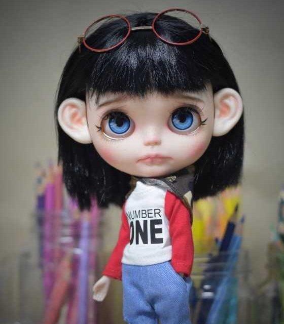 Емери - Прилагодена кукла Blythe една-на-еден вид OOAK