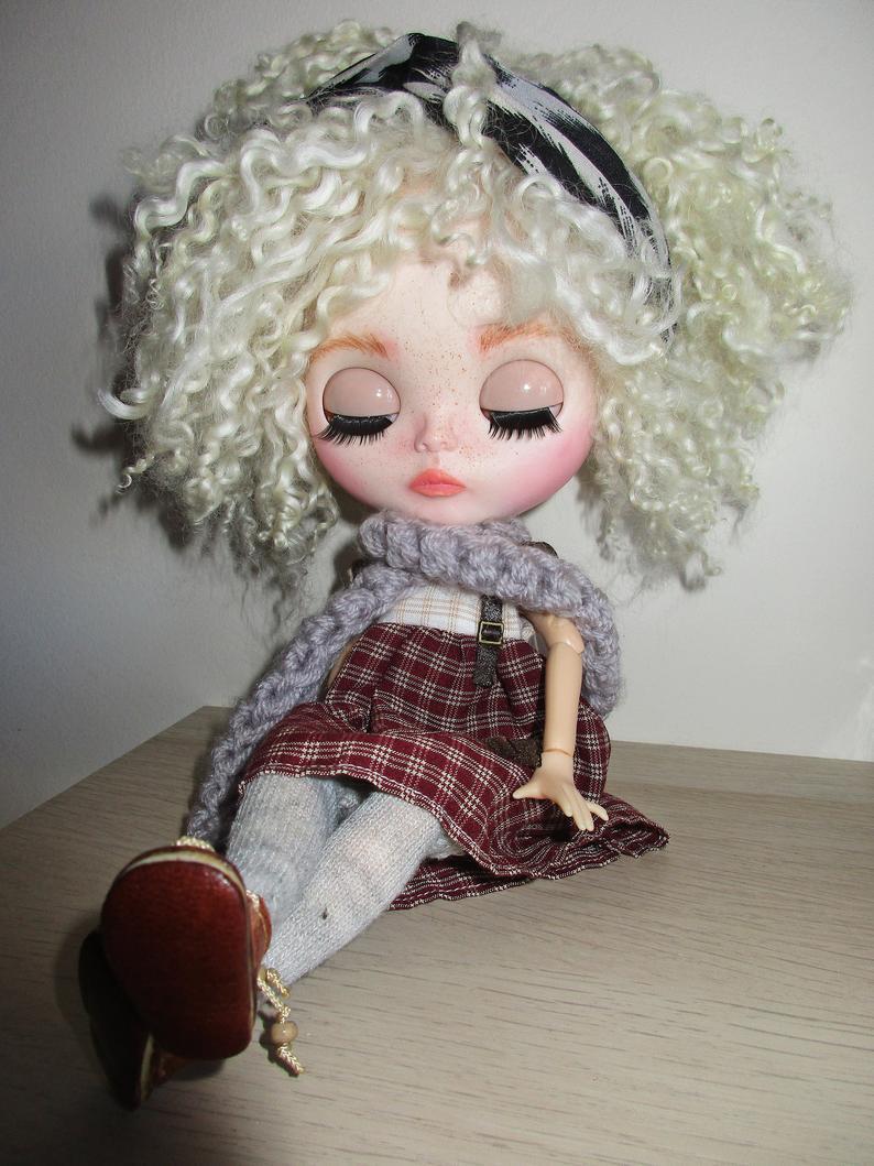Minna - Custom Blythe Doll One-Of-A-Kind OOAK Custom Blythe Doll ⭐