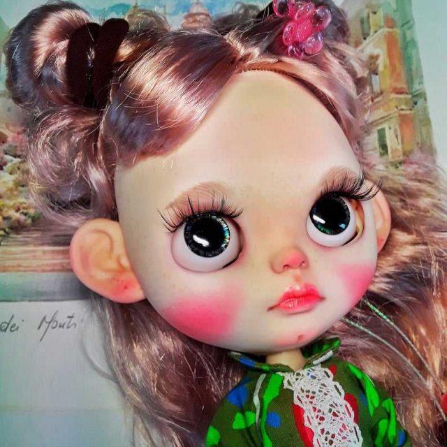 Lizzie - စိတ်တိုင်းကျ Blythe Doll တစ်ခုမှာ-of-A-ကြင်နာ OOAK