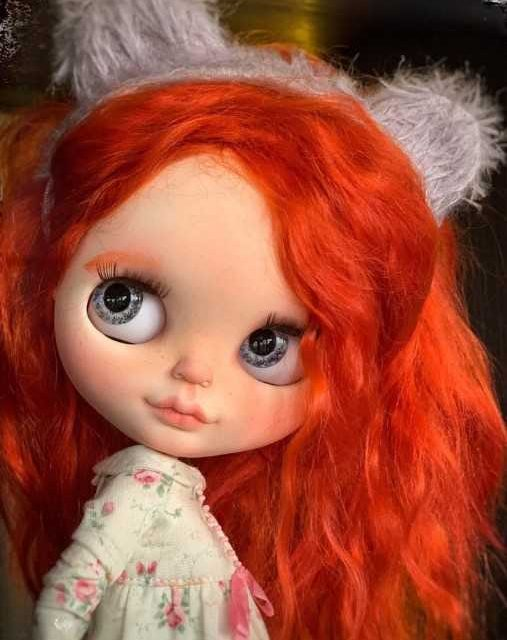 Lillian - Custom Blythe Doll-yek-rengîn OOAK