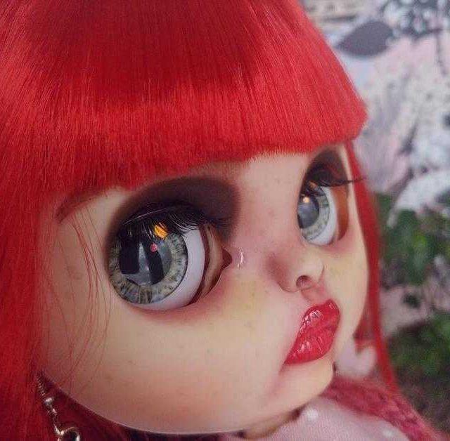 Rose Red - Custom Blythe Doll-yek-rengîn OOAK