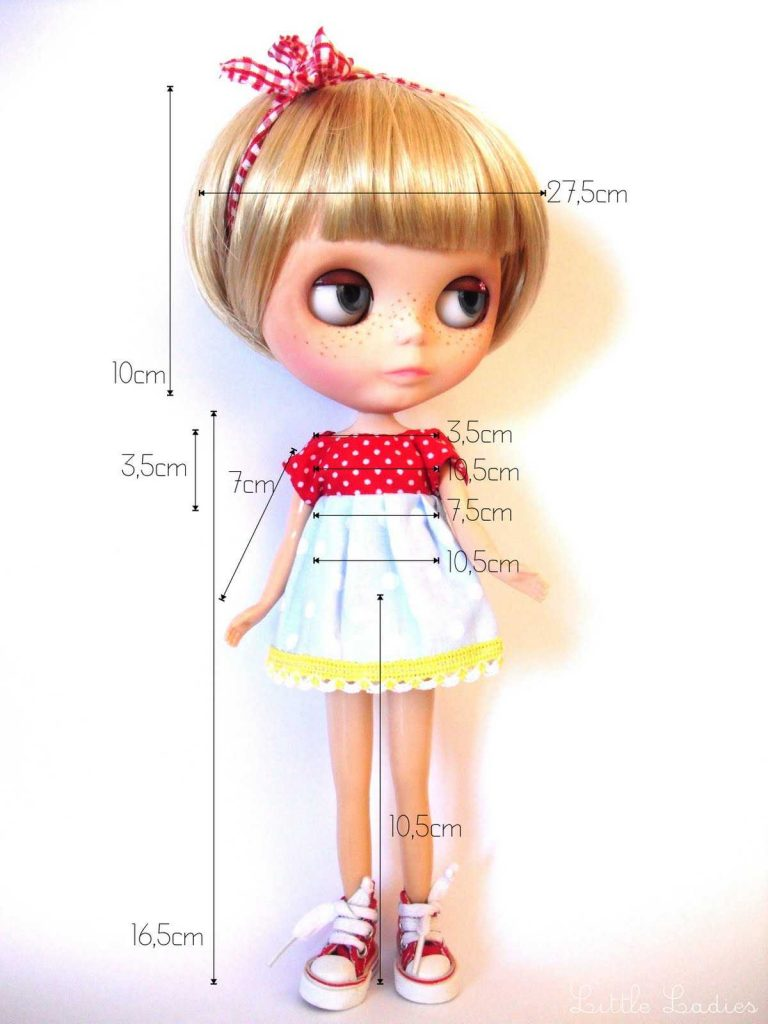 Neo Blythe Doll Measurements and Length Converter 1
