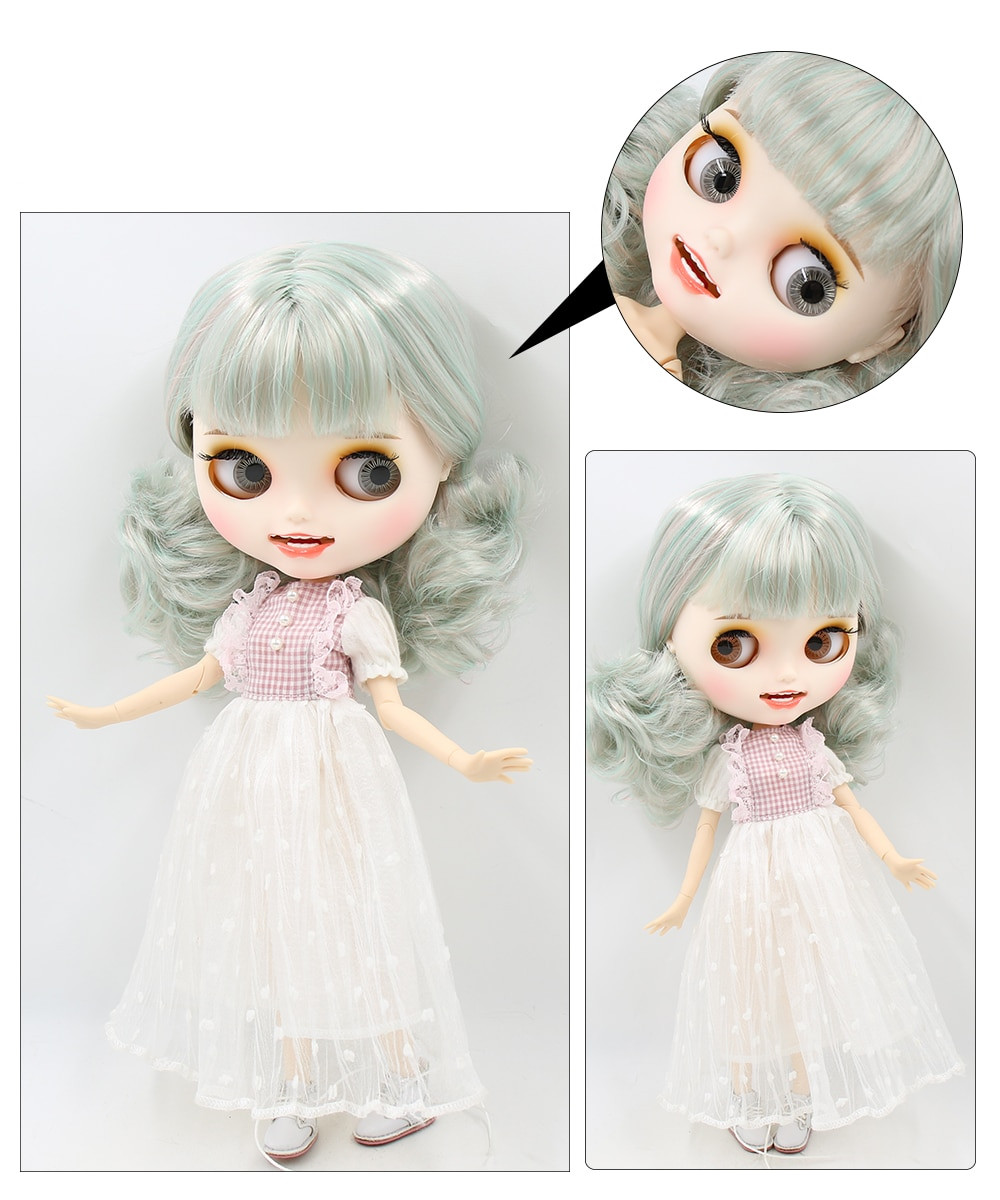 Premium Custom Blythe Dolls with Teeth 27 New Jointed Body Options Matte Face 1