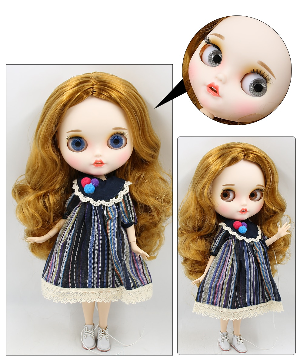 Premium Custom Blythe Dolls with Teeth 27 New Jointed Body Options Matte Face 15
