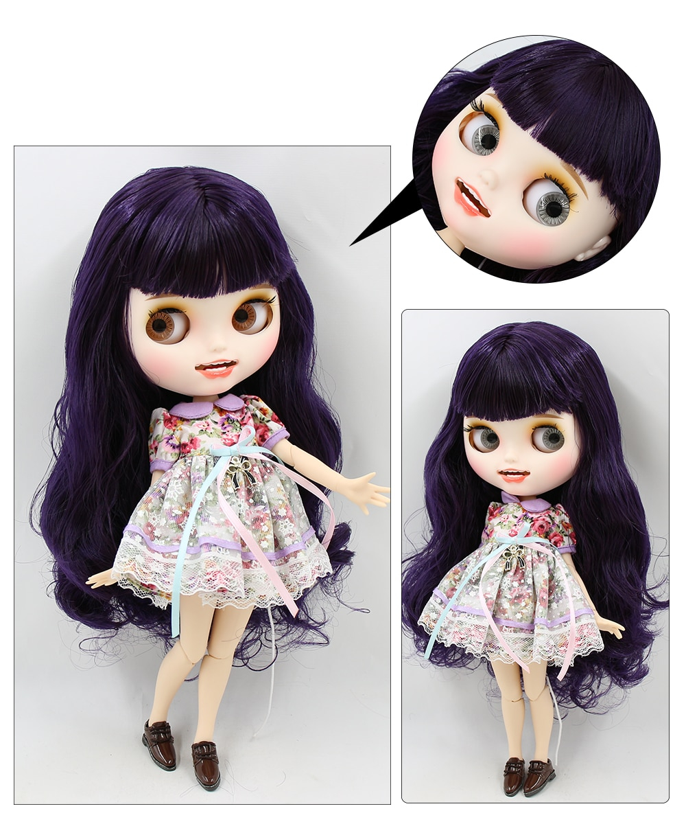 Premium Custom Blythe Dolls with Teeth 27 New Jointed Body Options Matte Face 12