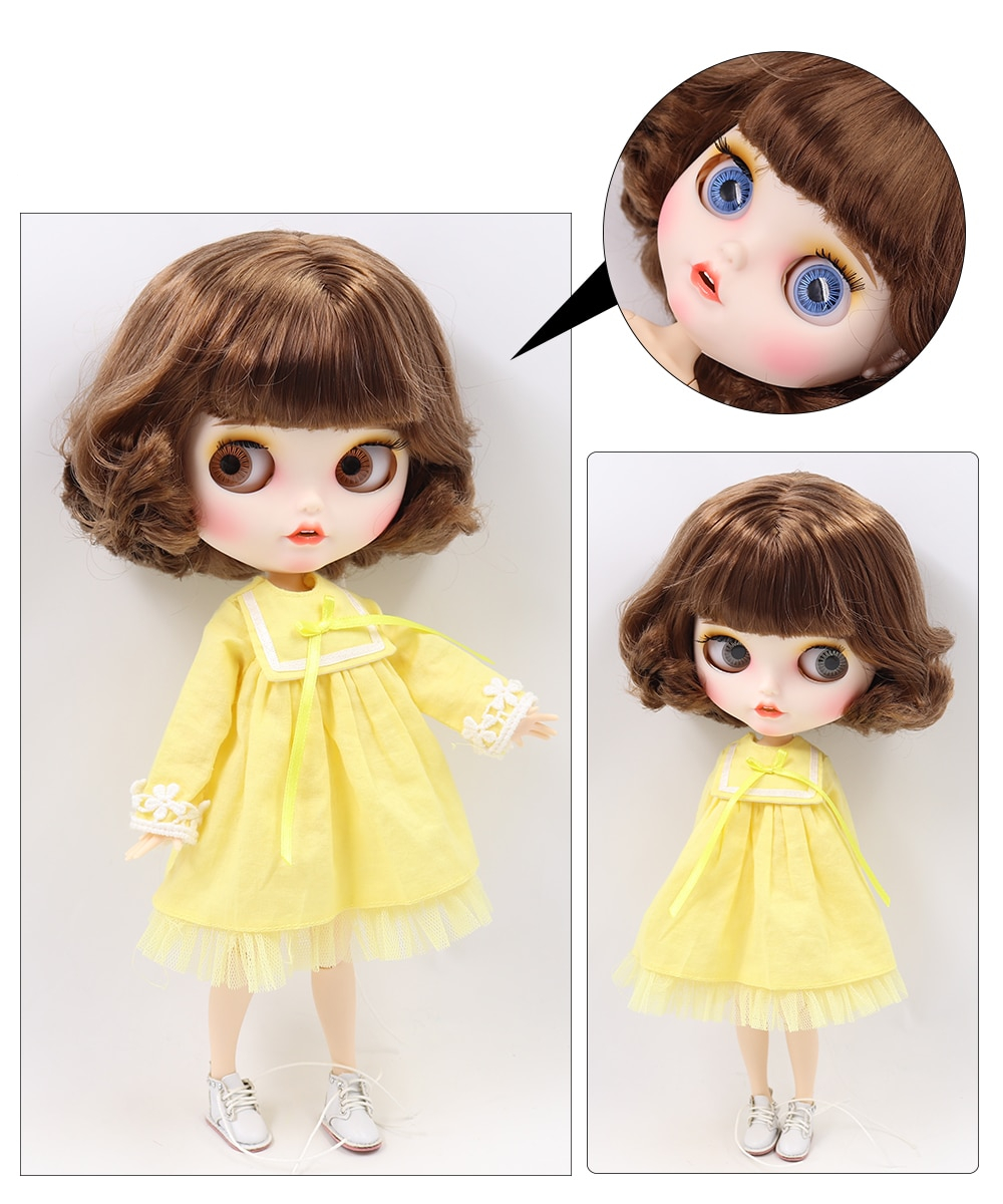 Premium Custom Blythe Dolls with Teeth 27 New Jointed Body Options Matte Face 20