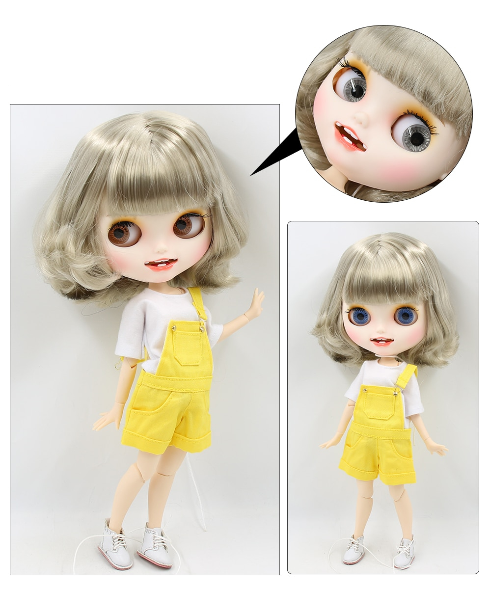 Premium Custom Blythe Dolls with Teeth 27 New Jointed Body Options Matte Face 7