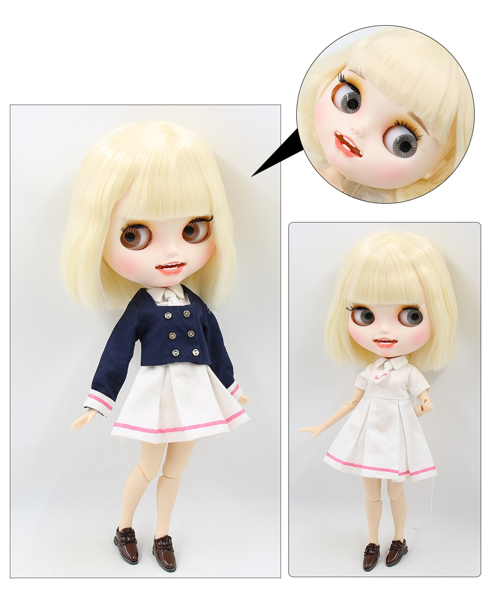 Premium Custom Blythe Dolls with Teeth 27 New Jointed Body Options Matte Face 6