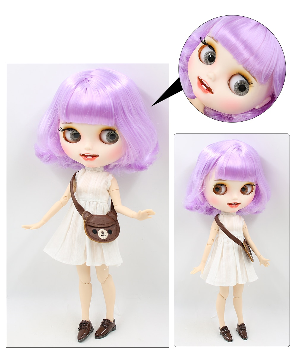 Premium Custom Blythe Dolls with Teeth 27 New Jointed Body Options Matte Face 14