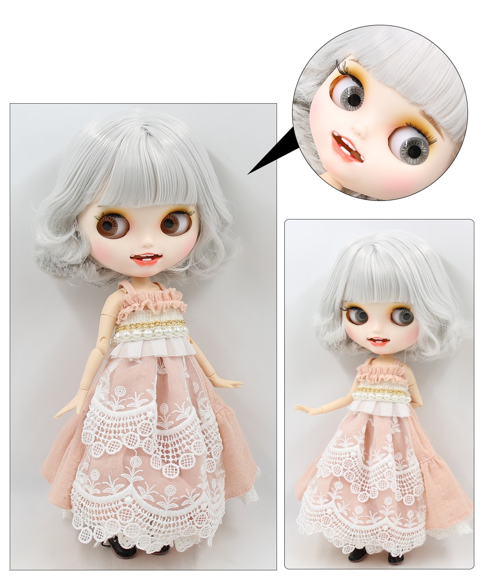 Premium Custom Blythe Dolls with Teeth 27 New Jointed Body Options Matte Face 16