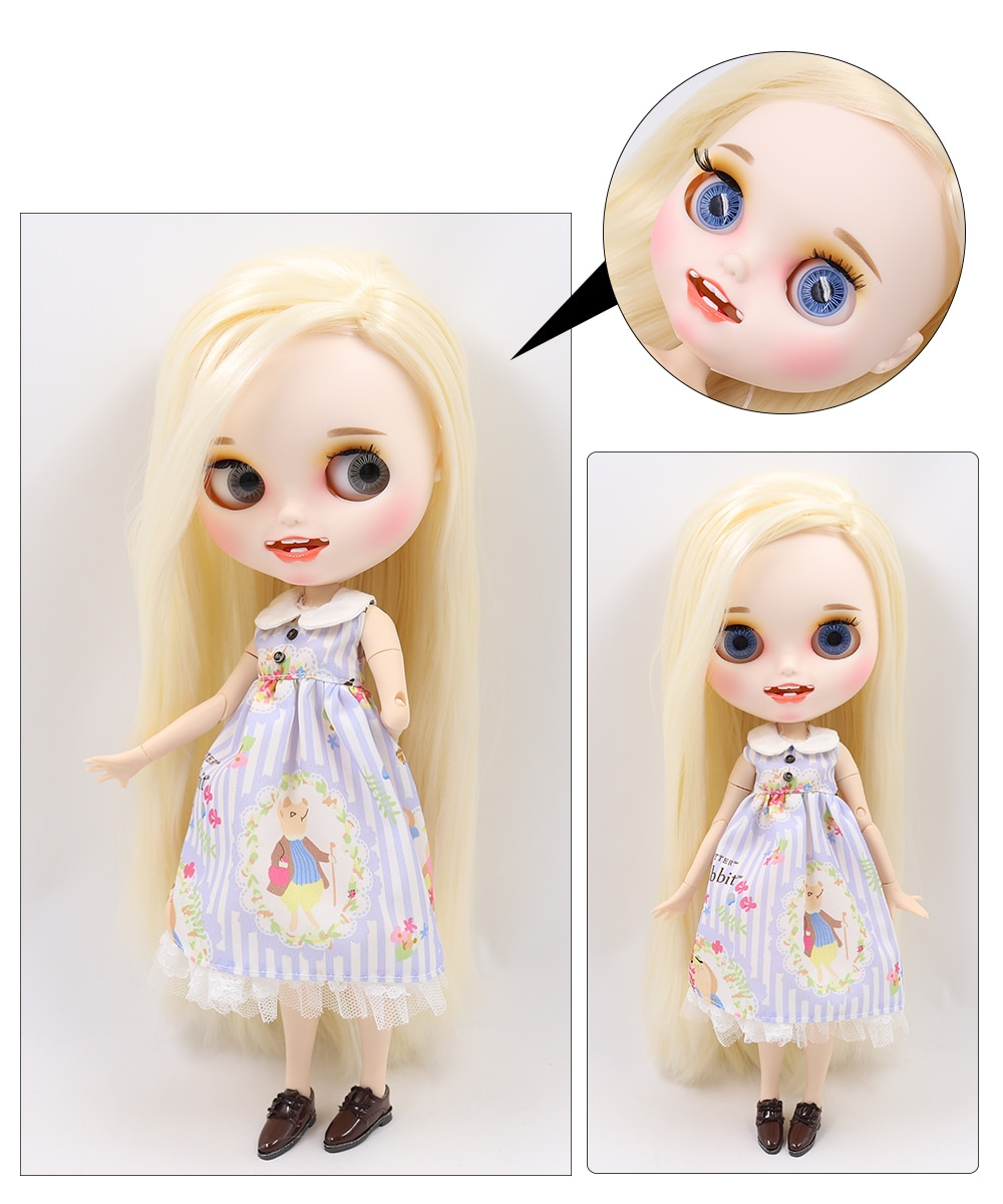 Premium Custom Blythe Dolls with Teeth 27 New Jointed Body Options Matte Face 18