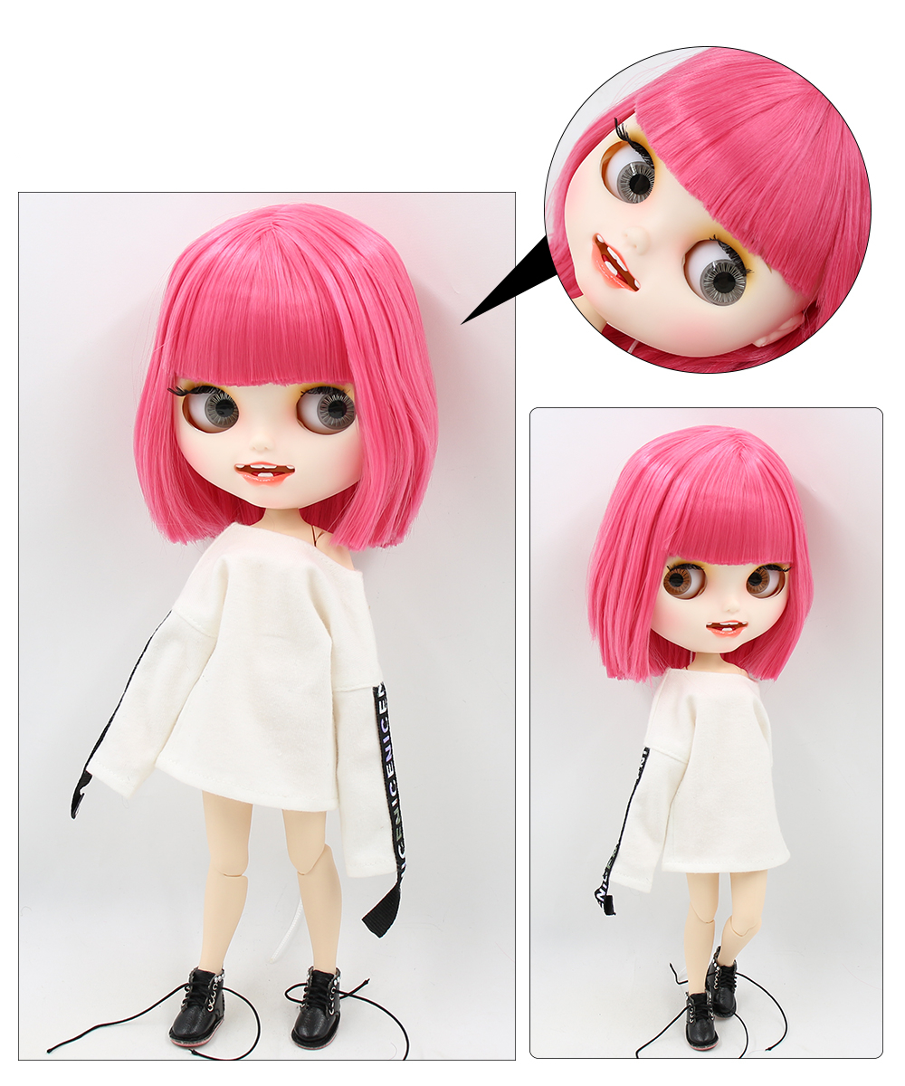 Premium Custom Blythe Dolls with Teeth 27 New Jointed Body Options Matte Face 11