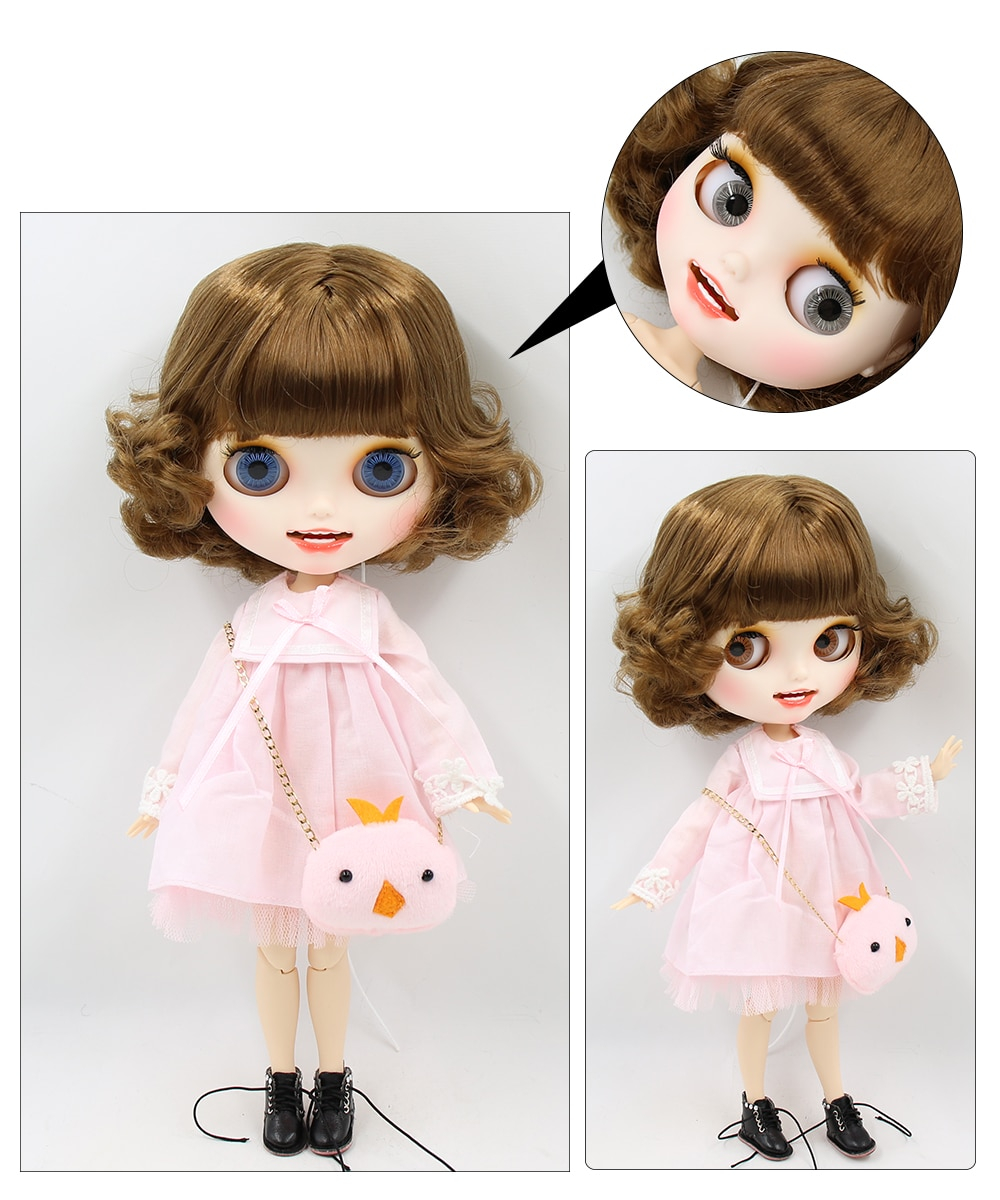 Premium Custom Blythe Dolls with Teeth 27 New Jointed Body Options Matte Face 13